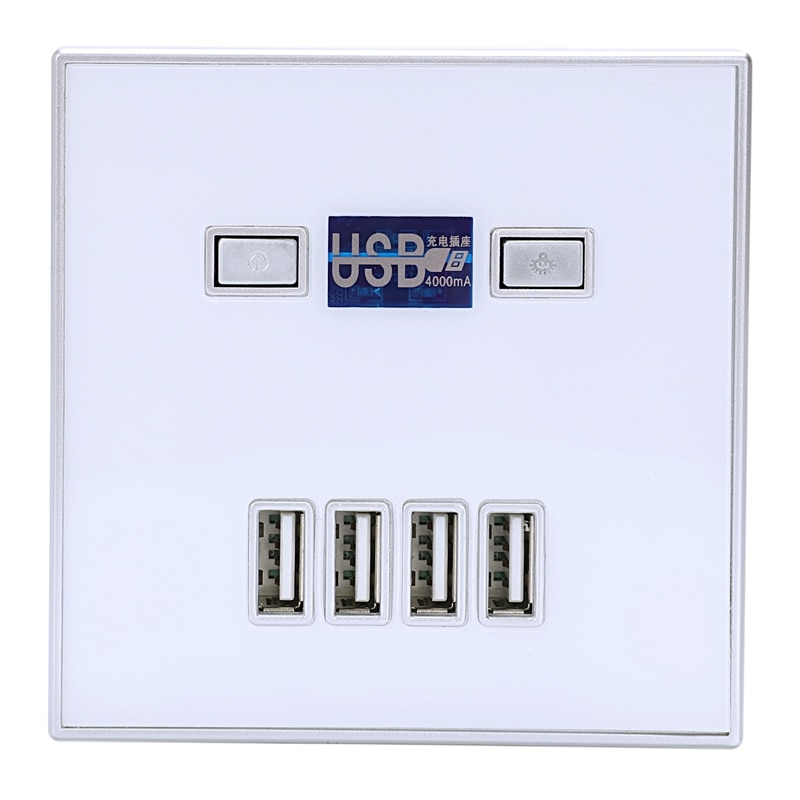 Очень важно 4-Порты и разъёмы Quick Зарядное устройство дома Применение розетки Мощность электрическая розетка Usb 86 мм x 86 мм 4000Ma