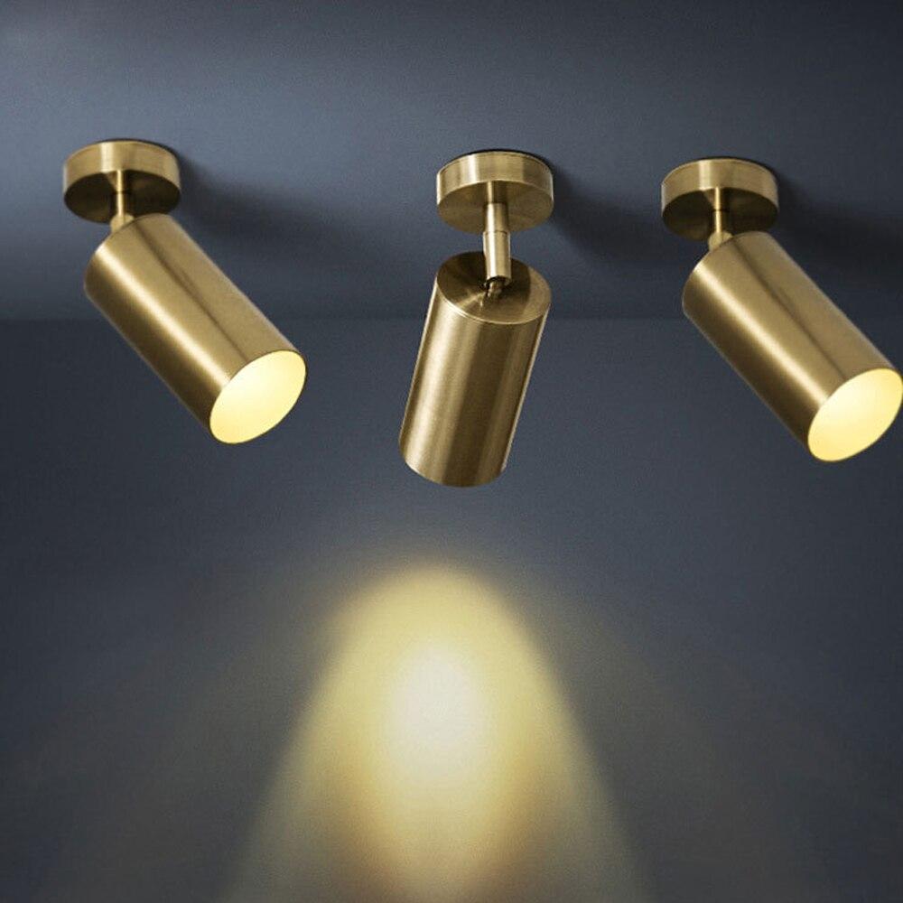 Zerouno-مصباح led داخلي من الألومنيوم ، مصباح سقف أسود/ذهبي مع تثبيت على السطح ، مثالي لغرفة المعيشة أو غرفة النوم أو الأريكة