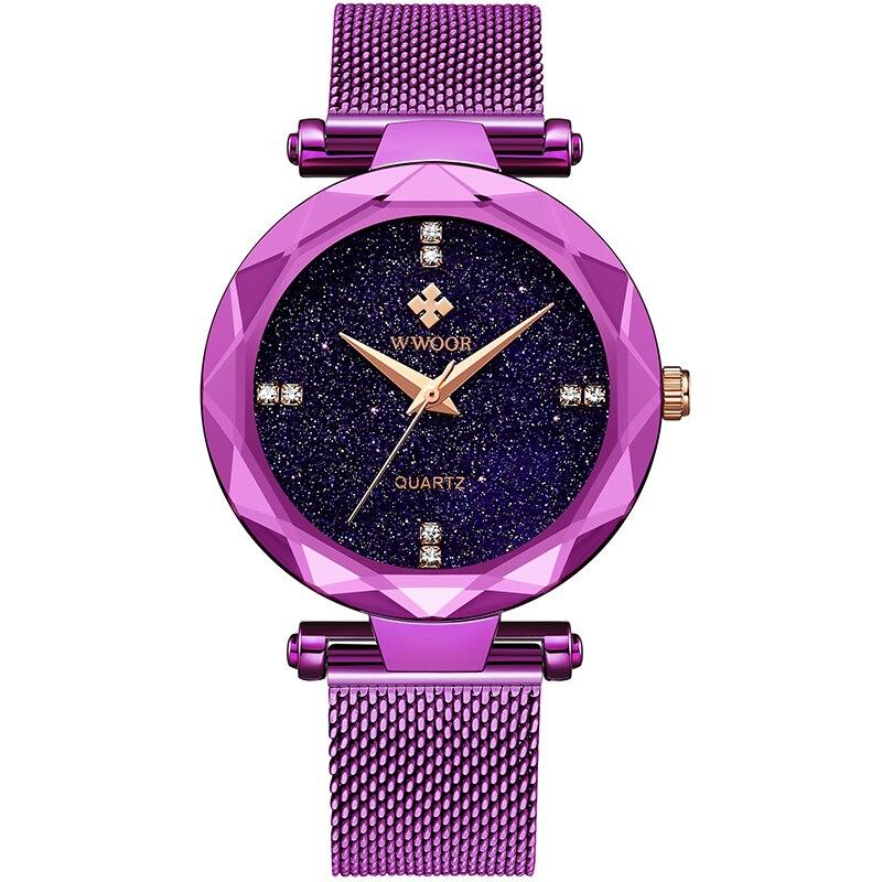 2021 WWOOR New Watch Women Fashion Casual Mesh Belt Watches Simple Ladies Gift Small Quartz Clock Dress Wristwatches Reloj Mujer enlarge