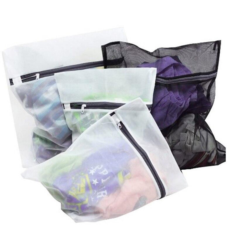 4 unids/set de ropa lavadora sujetador de lavandería ayuda Lencería malla red lavado bolsa de almacenamiento bolsa de mujer hogar bolsas para lavar la colada