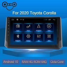 Corolla Android 10.0 Octa Core 4+64G Gps Stereo Car Multimedia Player Radio For Toyota Corolla 2020