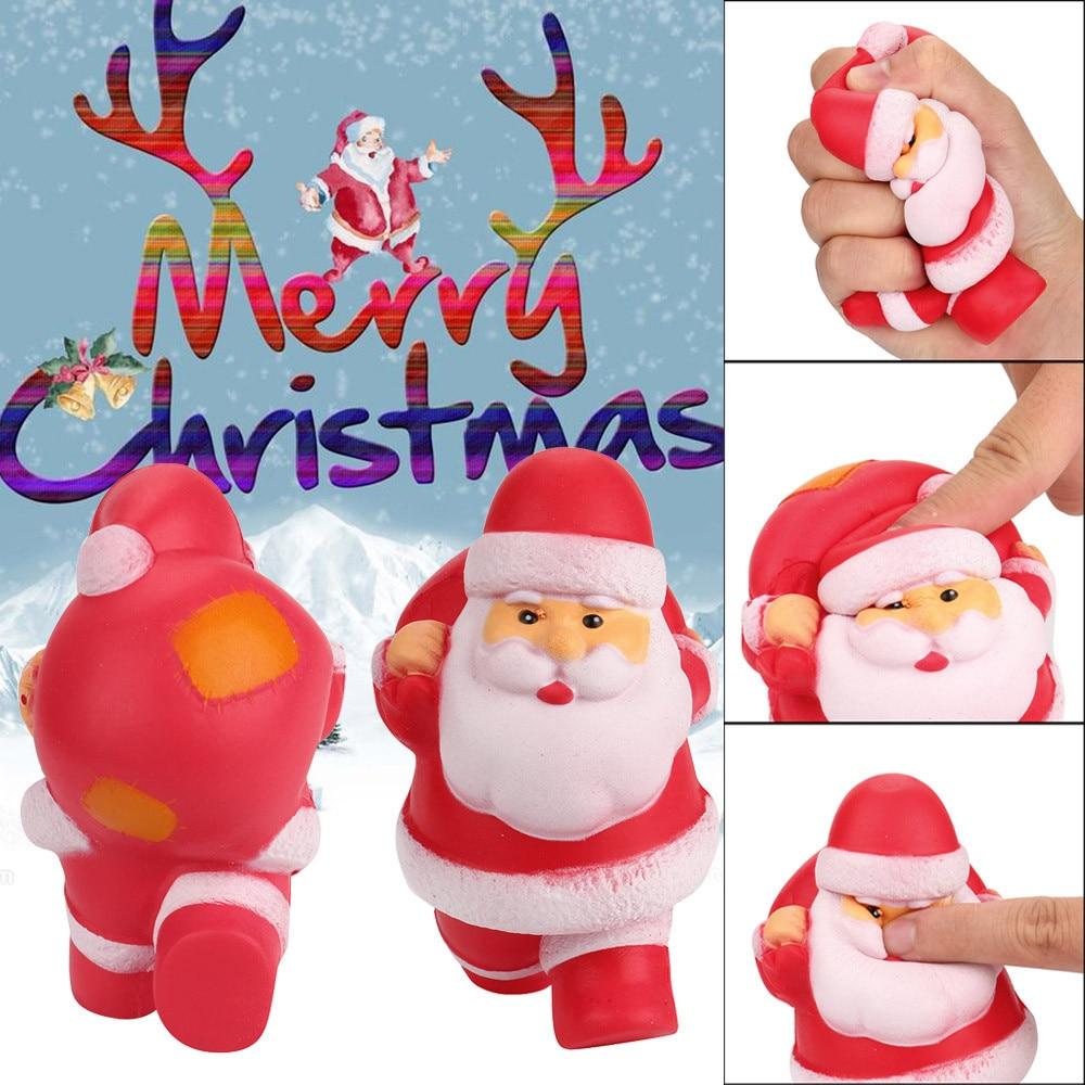 Squishies juguete Kawaii Santa lento juguete de aumento de crema perfumada alivio de estrés squash jumbo anti-estrés juguetes de aumento regalos de navidad a2