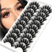 imitation mink 3d eyelashes soft fluffy natural long false eyelashes reusable makeup 5 10 pairs