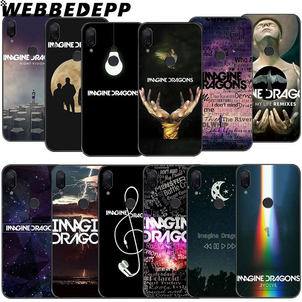 WEBBEDEPP Music Imagine Dragons Soft Case for Xiaomi Redmi GO Note 4 4X 5 6 pro 5A Prime 7 8 Pro Cover
