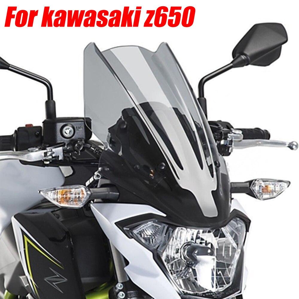 Для Kawasaki Z650 2017 2018 2019 экран ветрового стекла экран с кронштейном