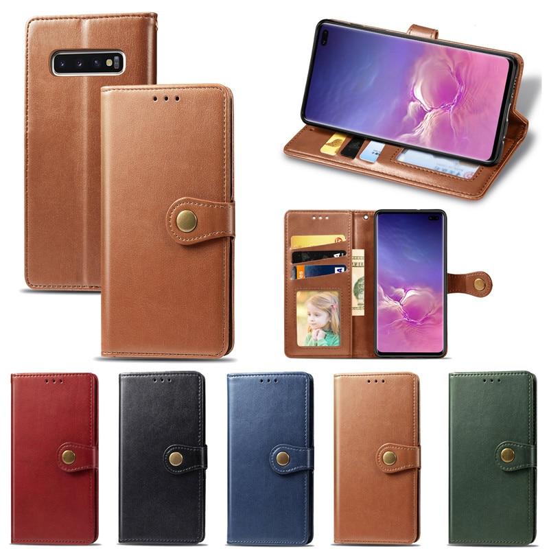 A40 A50 A70 A10S A20S A51 A71 Funda parejas Flip Wallet Funda de cuero para Samsung Galaxy S8 S9 S10 S20 Plus Ultra A20E cubierta de tarjeta