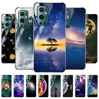 tempered glass case for oneplus 9 pro cases starry sky painting cover one plus 9 pro 9pro oneplus9 plus9 cover bumper funda capa