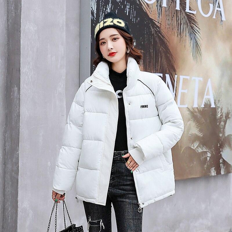 Женская Блестящая стеганая куртка, куртка зимняя женская новая зимняя теплая черная короткая куртка с надписью, Женская свободная стеганая...