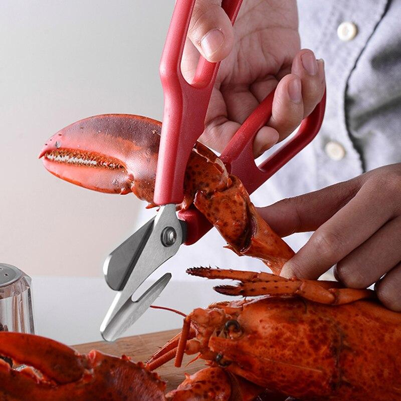Ножницы для лобстера, ножницы из нержавеющей стали, компактные прочные ножницы для морепродуктов, ножницы, ножницы, новый кухонный инструме...
