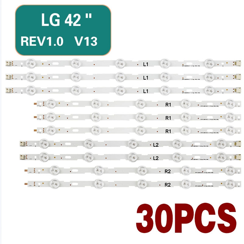 LG 42-inch TV LED backlight strip for 42LN540v 42LN613v 42LA620v LC420DUE 42LN575s 42LA620s 42LN578v 42LN575v 42LN5710