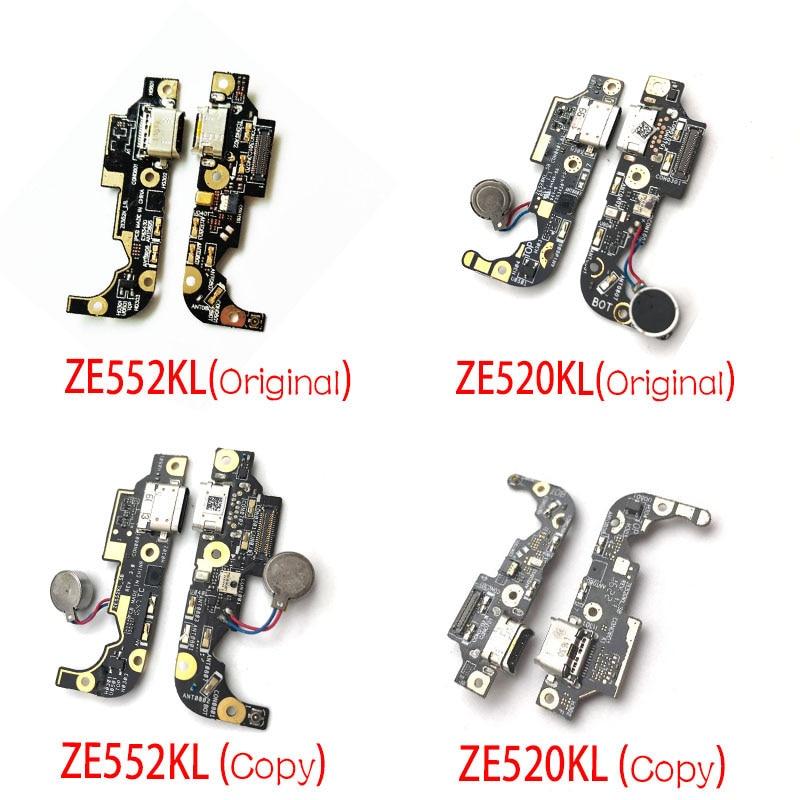 Para Asus Zenfone 3 ZE520KL ZE552KL Puerto USB cargador Dock Plug Connector placa de carga cable Flex del micrófono Placa de micrófono