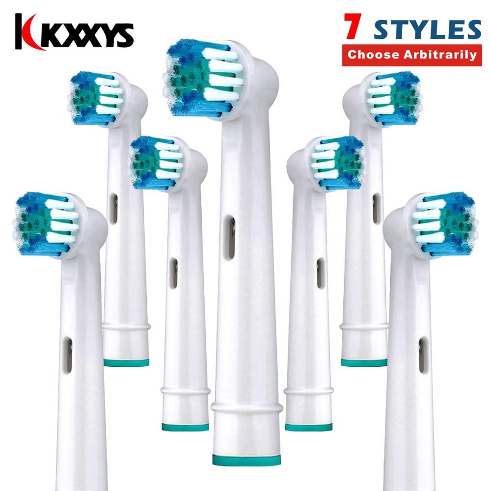 7/14 sztuk wymienne końcówki do szczoteczki 7 style miękkie włosie do Oral B 3D Excel elektryczne szczoteczki do zębów głowy/dysza
