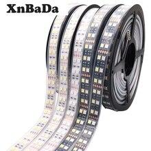 5M Double Row 5050 RGB LED Strip Waterproof  Black White PCB RGBW RGBWW LED Light  DC 12V/24V IP30/IP67 120LEDs/m