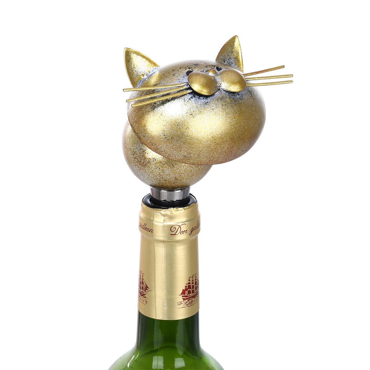 Tooarts bouchon de bouteille de vin en fer   Bouchon de chat, bouchon de bouteille matériel, sceau hermétique décoratif de chat, liège, décoration de vin moderne, décor de cuisine