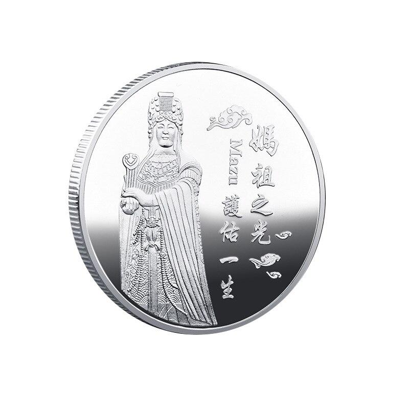 Туристические сувенирные медали, тайваньские идолы храма, благословляющие жизнь и безопасность, значок на удачу, памятная монета Mazu