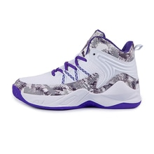Hard-Wearing High Top Basketball Shoes Men Blue Breathable Patchwork Sport Shoes Outdoor Runnging Ca