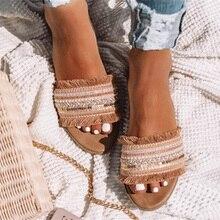 Pantofole da donna 2020 estate nuova roma sandali retrò scarpe Casual piatte scarpe da donna Slip on Slides scarpe da donna taglie forti sandali Mujer