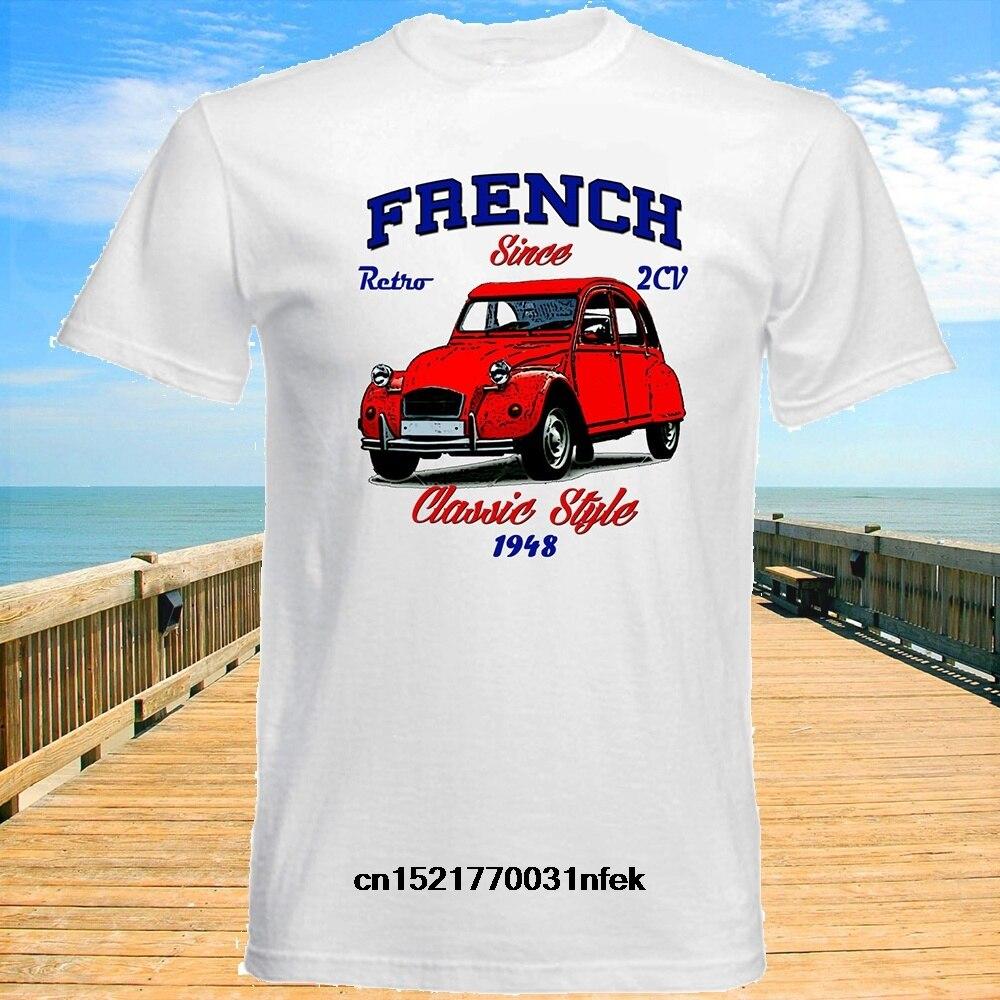 Camiseta de hombre VINTAGE francés coche CITROEN 2CV-Nueva camiseta divertida de algodón novedad camiseta Mujer