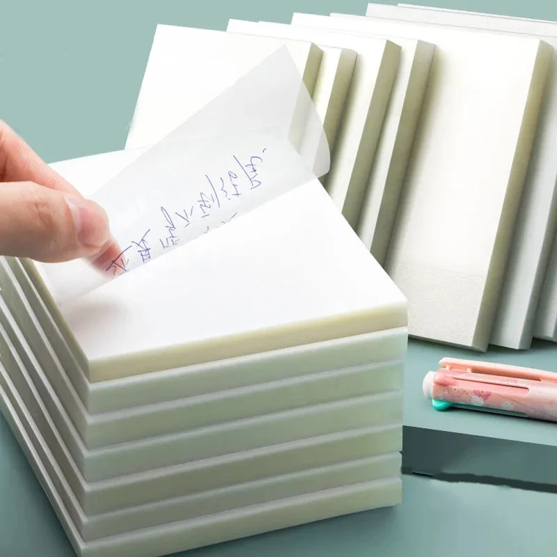 Transparent sticky notes with scrapes stickers sticky simple and high-value note paper for Student office stationery