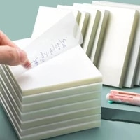 transparent sticky notes with scrapes stickers sticky simple and high value note paper for student office stationery