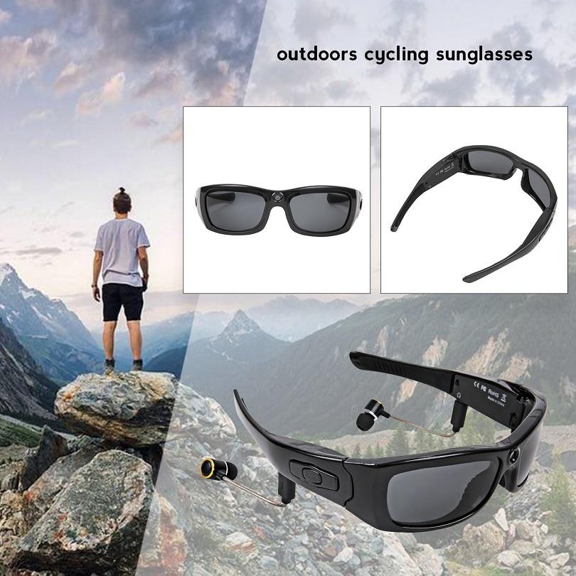 MS21 النظارات الشمسية كاميرا سماعة HD1080P بلوتوث مشغل MP3 صور مسجل فيديو كاميرا فيديو DV صغيرة للنظارات في الهواء الطلق