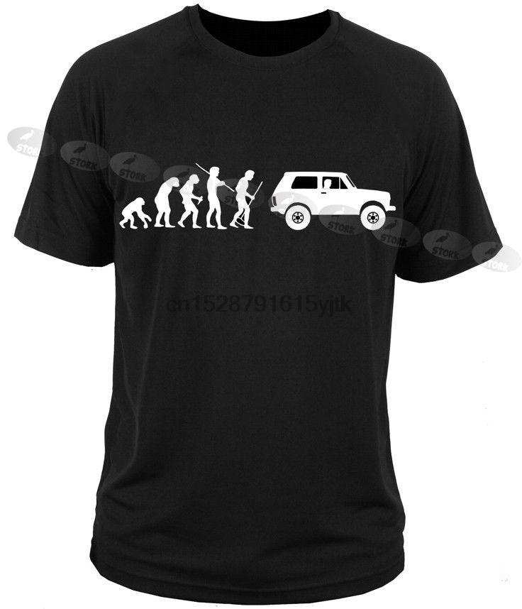 Alta qualidade mencotton vestuário camisas lada niva evolução waz carro russo fora de estrada 4x4che guevaratshirt design