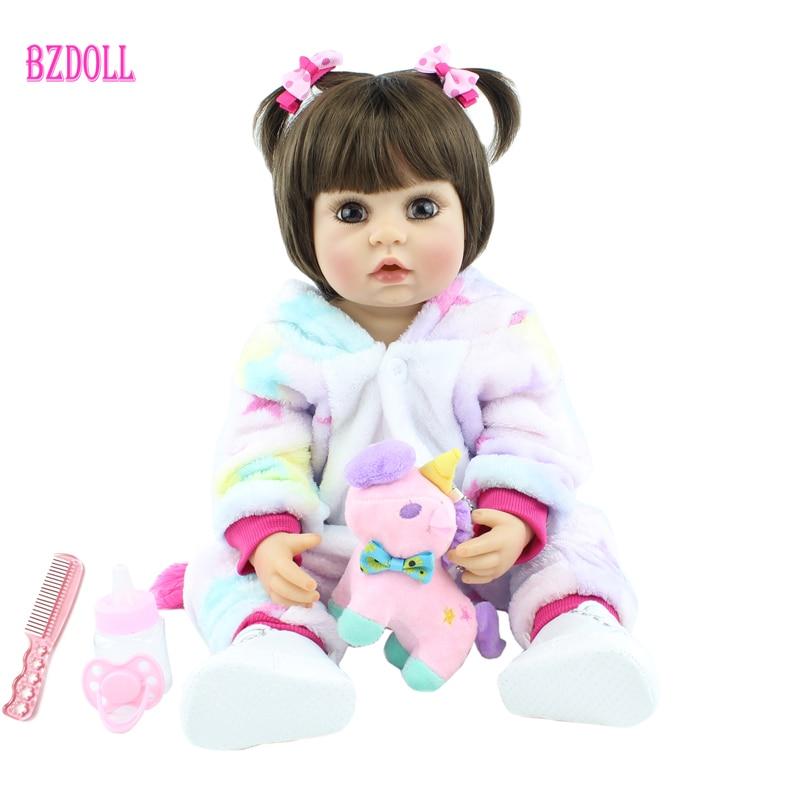 55cm Full Silicone Body Reborn Baby Doll Toy 22 inch Newborn Princess Babies Toddler Bebe Boneca Bathe Toy Child Birthday Gift