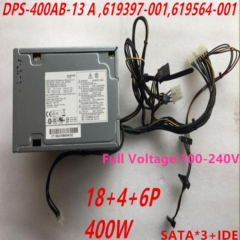 Nuevo PSU para HP Workstation Z210 Z220 400W, fuente de alimentación DPS-400AB-13 A 619397-001 619564-001