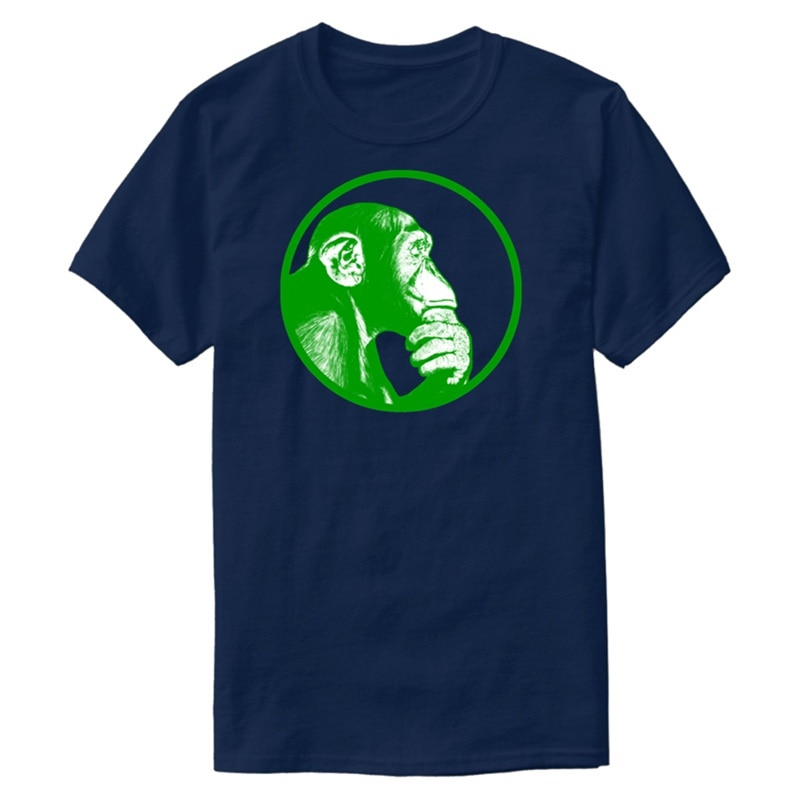 Personalizado Think Of Monkey chimpancé camiseta 2020 Camiseta Hombre Camisas camisa 100% algodón Pop superior Tee