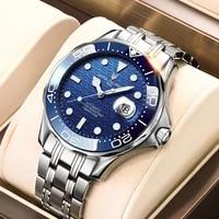 lige top brand luxury mechanical wristwatch automatic tourbillon watch 316l stainless steel 100m waterproof luminous watches men