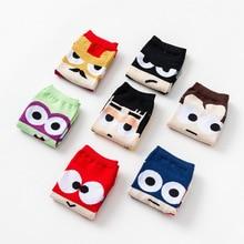 Mannen Vrouwen Korte Sokken Anime Cartoon Superman/Spider/Batman/Iron /Captain America Man Sokken A2145AD