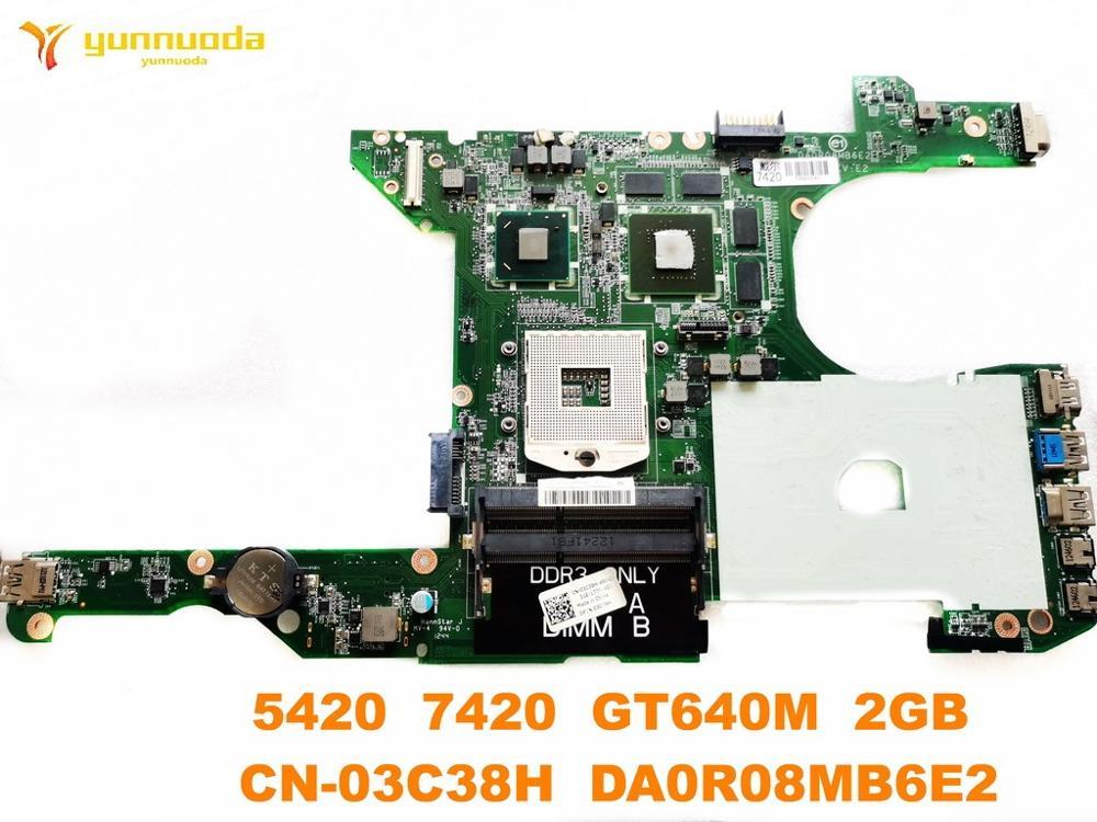 Original para DELL 5420 7420 placa base para portátil 5420 7420 GT640M 2GB CN-03C38H DA0R08MB6E2 probada buena envío gratis
