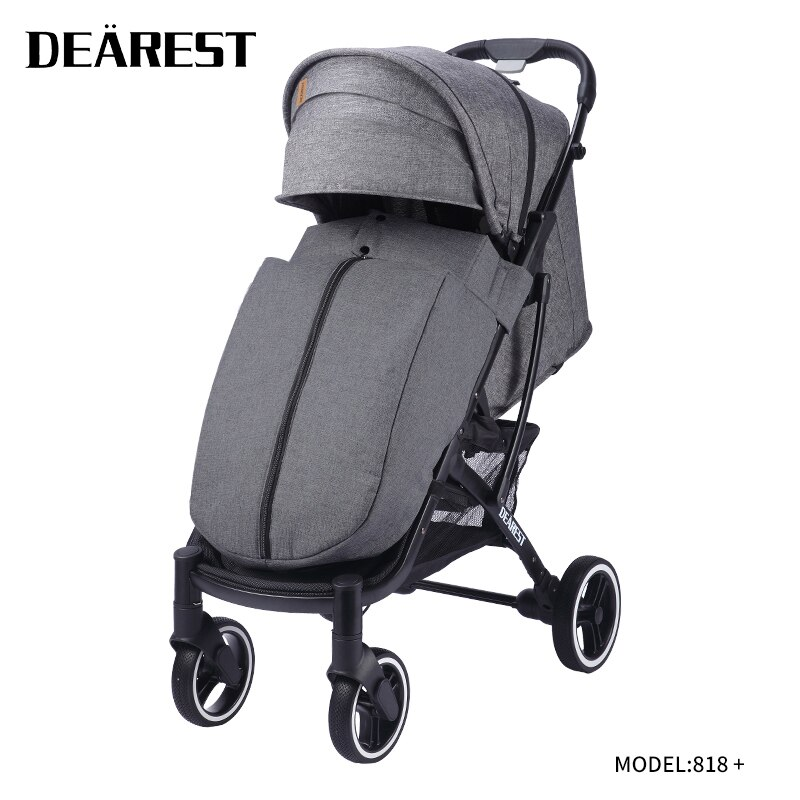 Dearest818+ Plus Stroller Is Foldable And Lightweight With Windshield, Suitable For Travel And Newborn Children