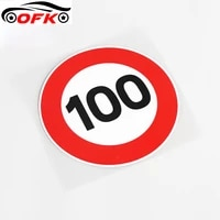 warning car sticker speed limit 100kph sign fashion pvc decal cover scratches suitable for all kinds of cars