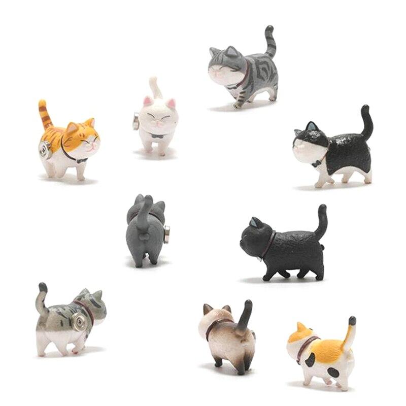 """Симпатичная Магнитная паста для холодильника серии """"теплые"""" 3D """"в виде кошки, домашнее украшение, креативный подарок, наклейки для холодильника в виде животных Магниты на холодильник      АлиЭкспресс"""