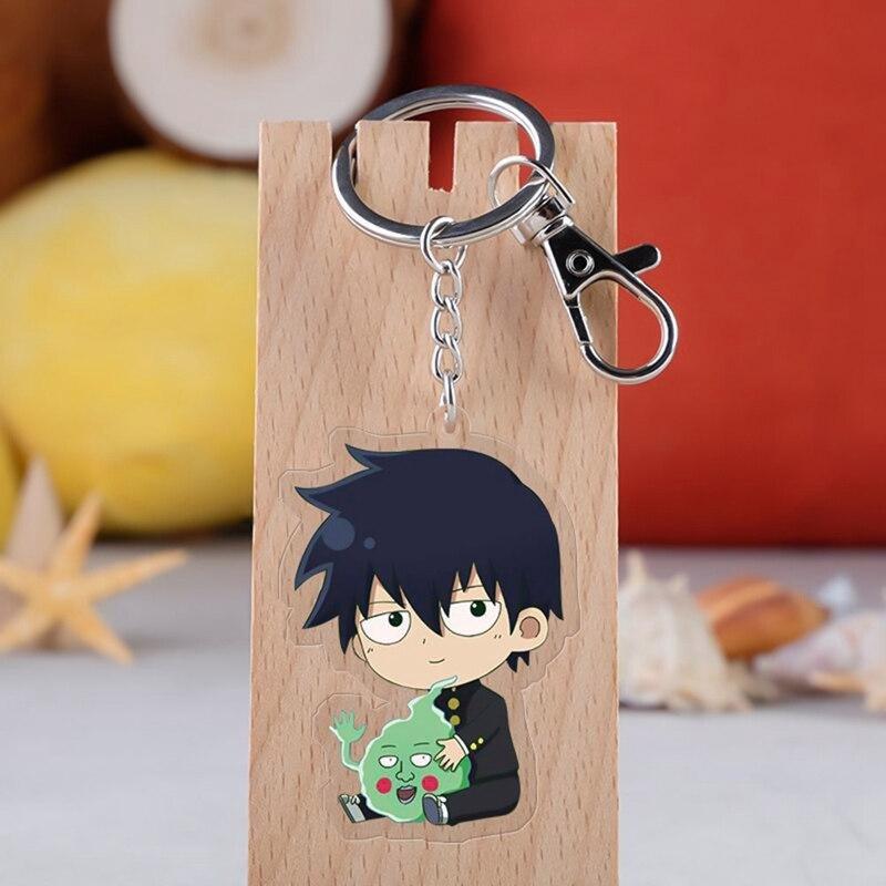 Mob Psico 100 Cosplay Chaveiro Shigeo Kageyama Ritsu-kun Ícone Coleção De Anéis de Chave Da Corrente Chave Para O Saco