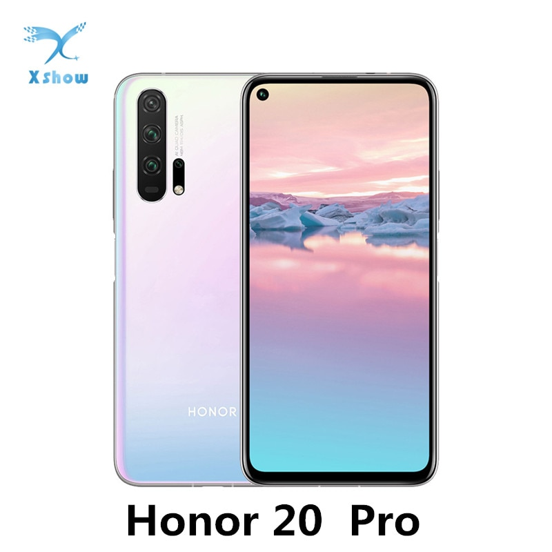 "Honor 20 Pro Global Rom Smartphone Kirin 980 Android 9 6.26"" IPS 2340X1080 8GB RAM 128GB ROM 48.0MP+32.0MP Fingerprint NFC Phone"