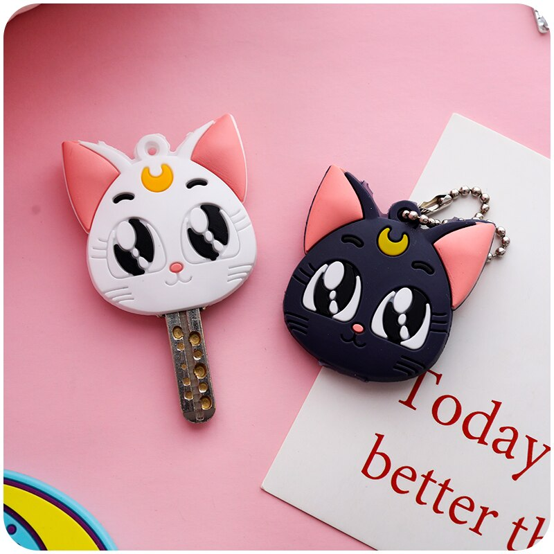 Lua de marinheiro luna cardcaptor sakura gato chaveiro capa cosplay prop pingente chaveiro chaveiro anime