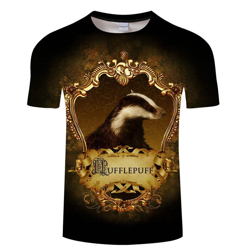 Casual Hufflepuff película impresa hombre Camiseta verano hombres de manga corta Camiseta Mole impreso Homme Streetwear Drop Ship