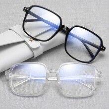 Transparent Computer Glasses Frame Women Men Fashion Anti Blue Light Eyeglasses Frame Black Eyewear