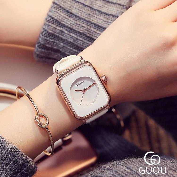 Marca de Luxo Relógio de Pulso Quartzo à Prova Novo Relógio Feminino Grande Dial Relógios Femininos Topo Moda Retangular Senhoras Dwaterproof Água Hora 2021