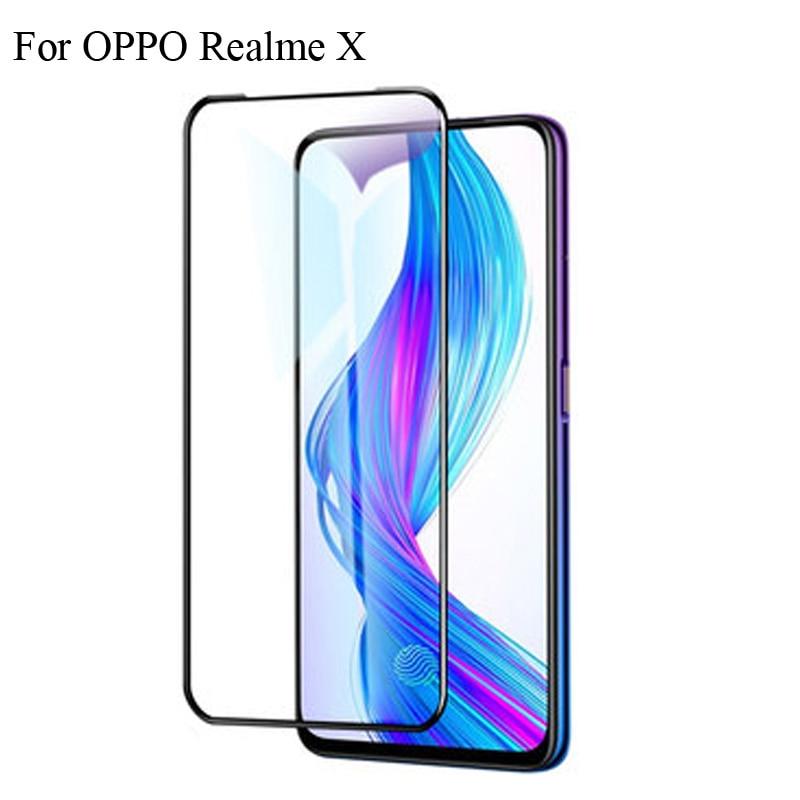2 piezas protector de pantalla ultrafino de vidrio templado para OPPO Real me X protección de pantalla completa para OPPO Real me X RealmeX protección