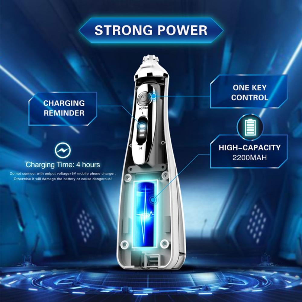 240Ml Draagbare Monddouche Dental Water Flosser Usb Oplaadbare Waterdichte Elektrische Jet Tanden Reinigen Machine Waterflosser enlarge