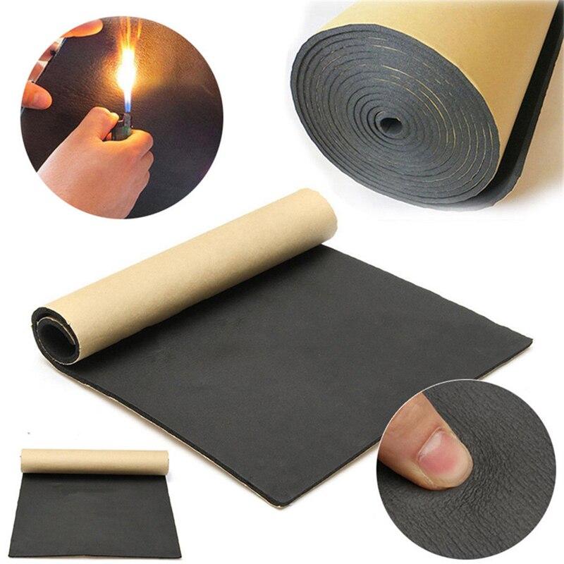 200*50cm 3/6/10mm Car Sound Hot Deadener Mat Noise Proof Bonnet Insulation Deadening Engine Firewall Heat Foam Cotton Sticker