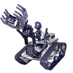 Программируемый Танк TH Wi-Fi робот автомобильный комплект с рычагом для Raspberry Pi4 (2G) игрушечная линия патрулирования версия обхода препятствий...