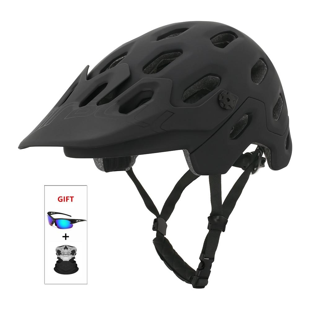 Cairbull-Casco para bicicleta de montaña MTB o carretera TRAIL XC, cobertura de...