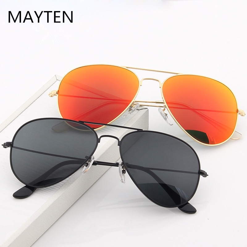 2021 Double Bridge Aviation Sunglasse Woman Polarized Aviat Alloy Frame Polit Mirror Sun Glasses Mal