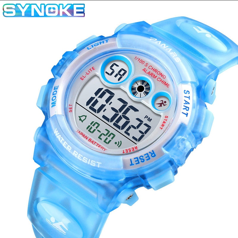 SYNOKE Sports Children Watch 50M Waterproof Student Watches LED Watches Alarm Date Boys Girls Gifts Electronic Clock Relojes