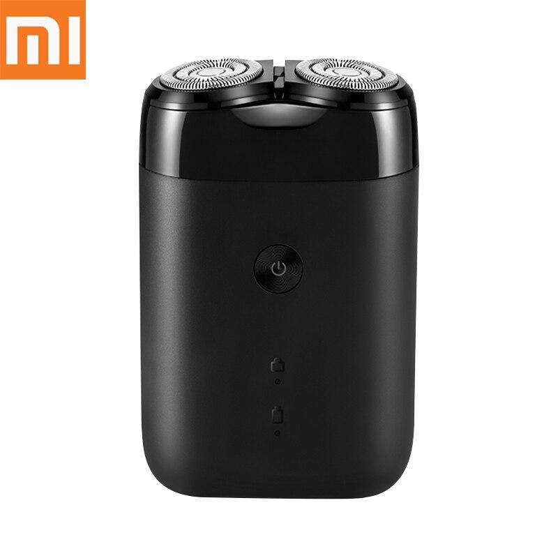 Afeitadora eléctrica Xiaomi Mijia 2019 con 2 cabezales flotantes resistentes al agua, maquinilla de afeitar portátil y resistente al agua, afeitadora de acero recargable por USB para hombres
