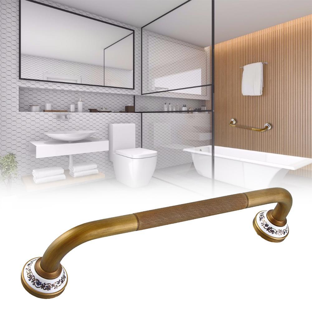 Brass Grab Bar Balance Handrail Shower Assist Bathroom Safety Hand Support Rail Wall Mount Prevent Slipping Falling Bath Handle